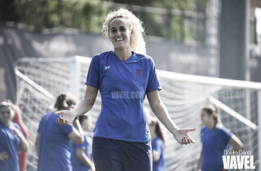 Kheira Hamraoui en un entrenamiento. FOTO: Noelia Déniz