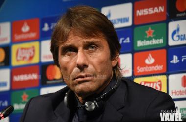 Antonio Conte, entrenador del Inter, en la rueda de prensa previa al partido. Foto: Noelia Déniz - VAVEL