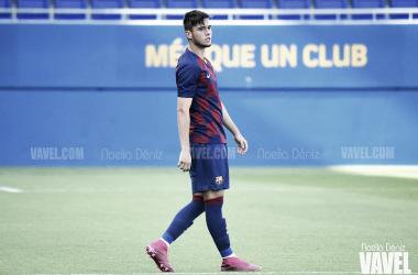 Jaume Jardí, jugador del Juvenil A del FC Barcelona. FOTO: Noelia Déniz