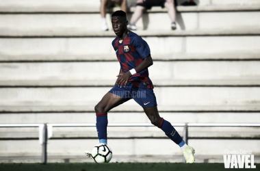 Ilaix Moriba en un partido con el Juvenil A del FC Barcelona. FOTO: Noelia Déniz