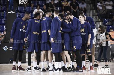 Los jugadores del Barça Basket rinden tributo a Kobe Bryant