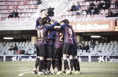 Celebración de un gol marcado ante el Club Deportivo Alcoyano   Foto de Noelia Déniz, VAVEL