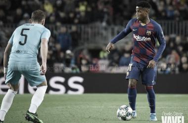 Ansu Fati, goleador más joven de la historia de la Champions League. FOTO: Noelia Déniz