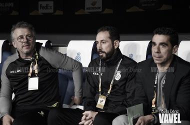 Pablo Machin durante un partido de Europa League en el RCDE Stadium. Foto: Noelia Déniz, VAVEL