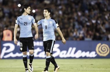 Luis Suárez y Edinson Cavani, la dupla uruguaya