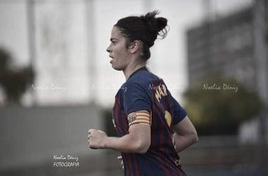 Marta Torrejón con el brazalete de capitana| Foto: Noelia Déniz-VAVEL