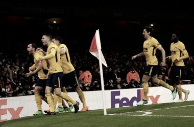 Millar y medio de aficionados acompañaron al Atlético de Madrid en Londres