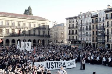 Manifestación de apoyo a los jóvenes de Alsasua acusados de terrorismo. | Foto: Altsasugurasoak
