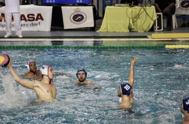 Selección española de Waterpolo masculino en un ataque contra Holanda / Foto: RFEN