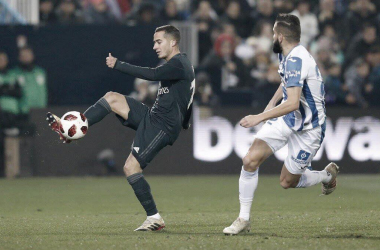 Vázquez, en la lucha ante Leganés / Foto: Real Madrid CF