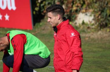 Álex Moreno durante un entrenamiento | Fotografía: Gema Paz (VAVEL)