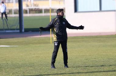 Míchel durante un entrenamiento | Fotografía: Gema Paz (VAVEL)