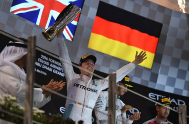 Sa seconde place importe peu, Nico Rosberg est champion du monde.     Photo : lemonde.fr