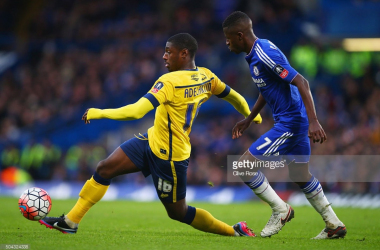 Hakeeb Adelakun against Ramires/Credit: Clive Rose