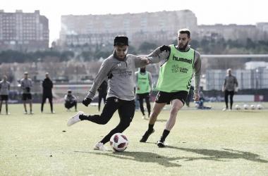 El Real valladolid entrenando y ya centrado en el próximo compromiso, Fotografía: Real Valladolid