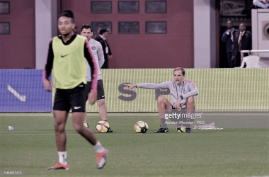 Thomas Tuchel durante un entrenamiento/ Foto: Getty images