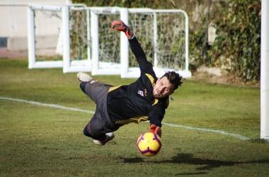 Dimitrievski durante un entrenamiento | Fotografía: Ricardo Grande (VAVEL)