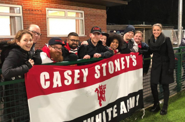 Watching the Manchester Derby with Manchester United's Barmy Army - the most vocal supporters group in women's football