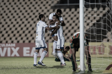 Pottker comemora o gol logo aos três minutos (Foto: Bruno Haddad/Cruzeiro EC)