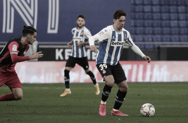 Max Svensson durante su debut en liga con el primer equipo | Foto: RCD Espanyol