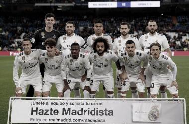 Once inicial del Real Madrid-Girona en la IDA de cuartos de Copa del Rey. Foto: Real Madrid