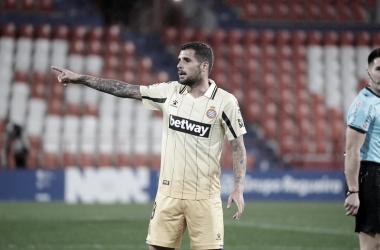 Fran Mérida durante el partido de ayer | Foto: RCD Espanyol