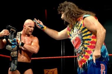 Steve Austin with Dude Love, Raw 1997. (WWE.com)