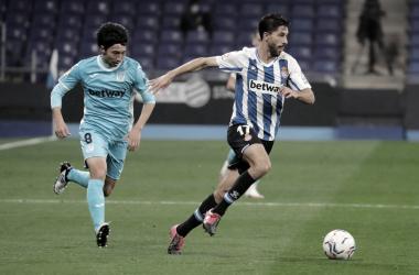 Dídac en el encuentro ante el Leganés. | Fuente: Carlos Mira - RCD Espanyol