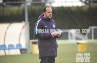 Lluís Cortés en un entrenamiento | Foto: Noelia Déniz (VAVEL)