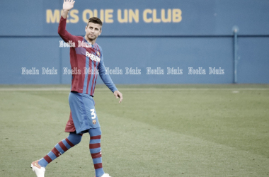 Gerard Piqué en la presentación con el Barça. | Foto: Noelia Déniz