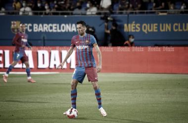 Sergio Busquets en el Johan Cruyff. | Foto: Noelia Déniz