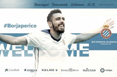 Imagen con la que el RCD Espanyol ha anunciado el fichaje. Foto: RCD Espanyol