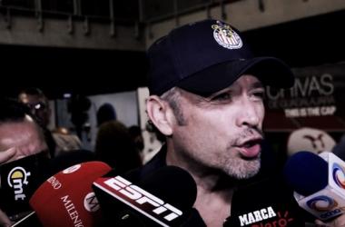 Higuera habló en el Estadio Chivas   Foto: Mediotiempo