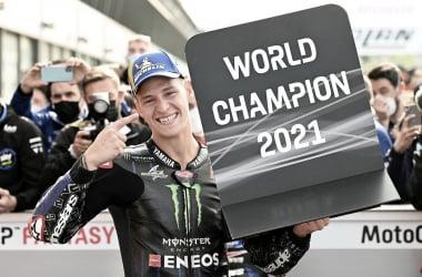 Fabio Quartararo tras convertirse en Campeón del Mundo /Fuente: Michelin MotorSport