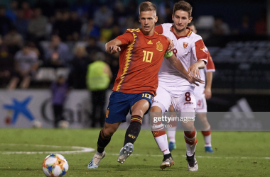 Dinamo's Dani Olmo lit up the Euro Under 21s this season and has been saved for this tie. Photo: Getty/NurPhoto