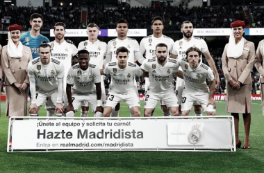 Once inicial del Real MAdrid en cláscio de Liga. Foto: Real Madrid C.F
