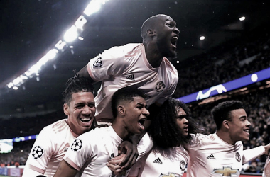 El United celebrando el gol sobre la hora / Foto: Twitter oficial del Manchester United