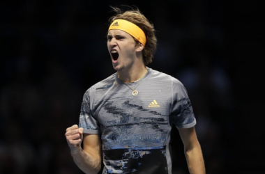 Zverev exults after blowing out Nadal/Photo: Kirsty Wigglesworth/Associated Press