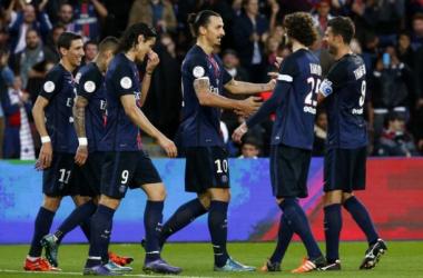À l'image de Zlatan (au centre), les Parisiens n'ont pas fait de détails face au TFC - Psg.fr
