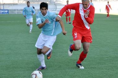 Atienza en un partido con el Sevilla Atlético la pasada campaña   Foto: Cordobadeporte.com