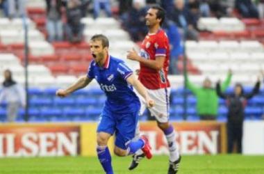 Único gol del partido marcado por Alonso. Foto: Ovación Digital.