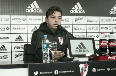 Gallardo en conferencia de prensa. Foto: Vavel.