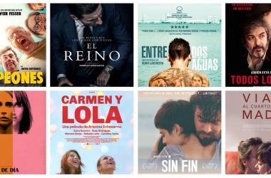Pósters oficales de cada uno de los nominados. Fotomontaje de Rafael Fernández