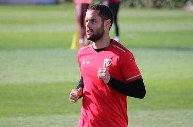 Mario Suárez durante un entrenamiento | Fotografía: Gema Paz (VAVEL)
