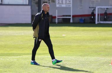 Paco Jémez durante un entrenamiento | Fotografía: Gema Paz (VAVEL)