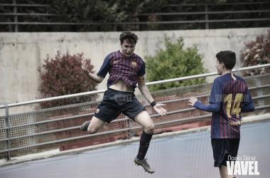 Adrià Altimira, autor del gol del triunfo con el FCB Juvenil B. Foto: Noelia Déniz, VAVEL