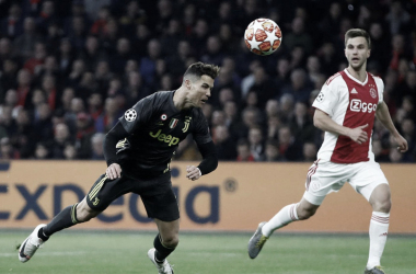 Cabezazo de Ronaldo para el gol / Foto: Twitter Juventus de Turín