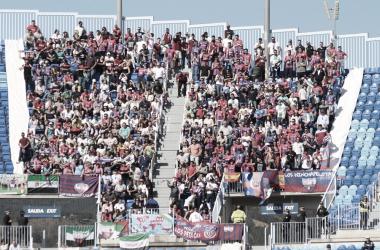 Afición del Extremadura en La Rosaleda // Imagen: Extremadura UD