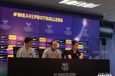 Cortés y Torrejón ante los medios | Fuente: Noelia Déniz (VAVEL)