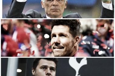 TRIO DE LUJO. Cuper,Simeone y Pochettino son los DT más conocido por el viejo continente. Foto: Nicolás Castillo-Vavel Argentina